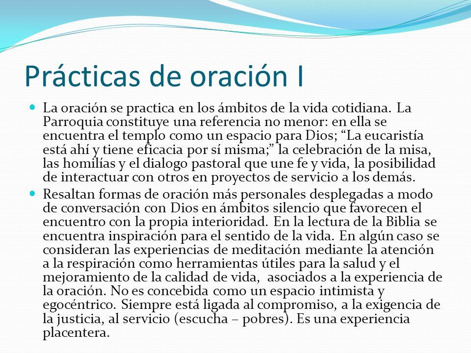 Prácticas de oración I