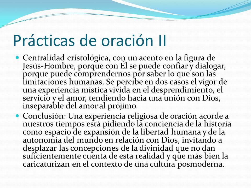 Prácticas de oración II