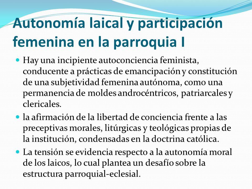 Autonomía laical y participación femenina en la parroquia I