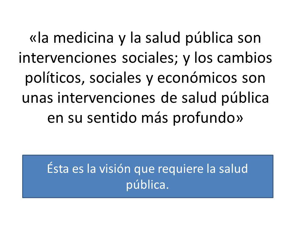Ésta es la visión que requiere la salud pública.