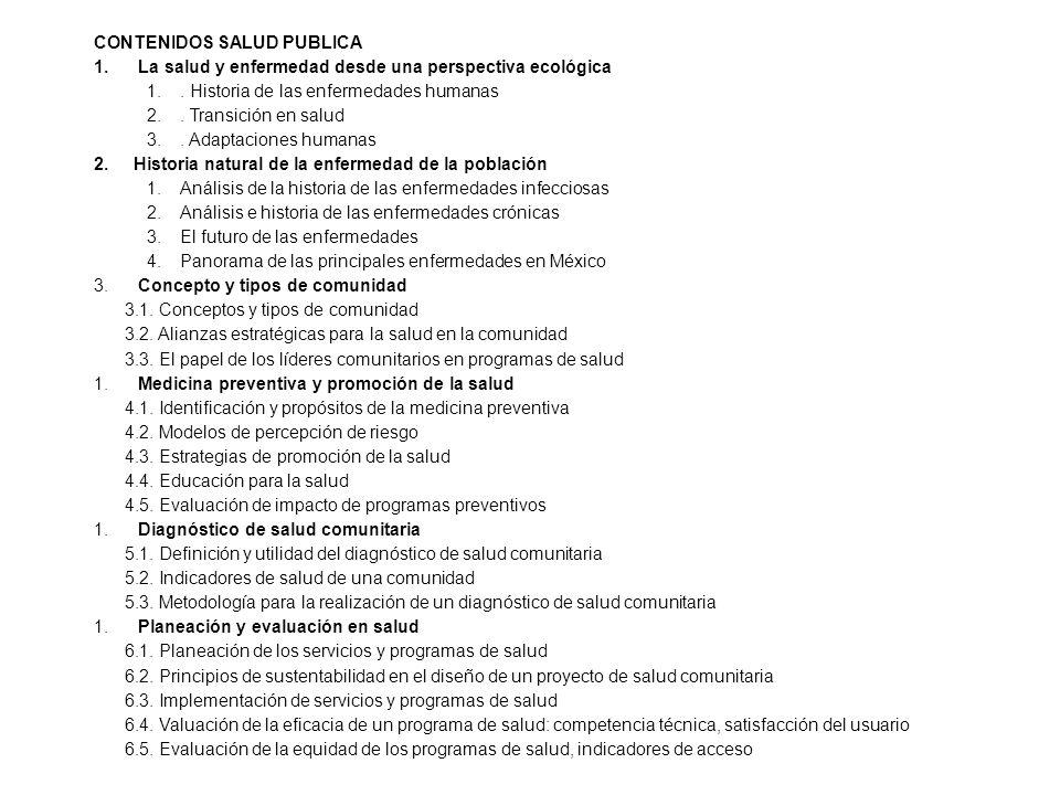 CONTENIDOS SALUD PUBLICA