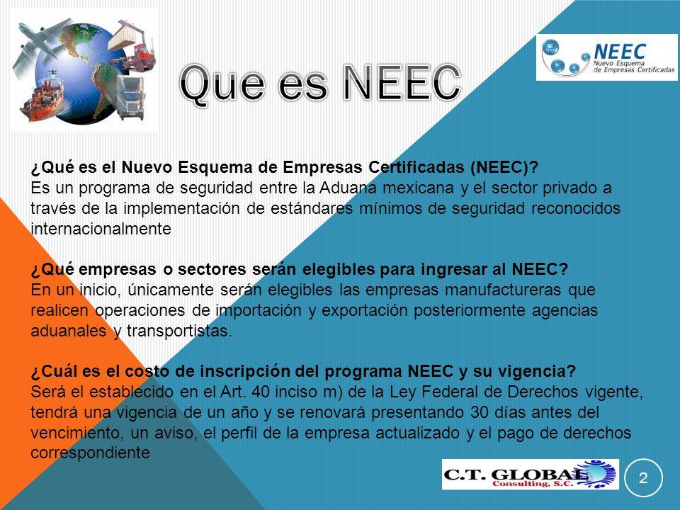 Que es NEEC ¿Qué es el Nuevo Esquema de Empresas Certificadas (NEEC)