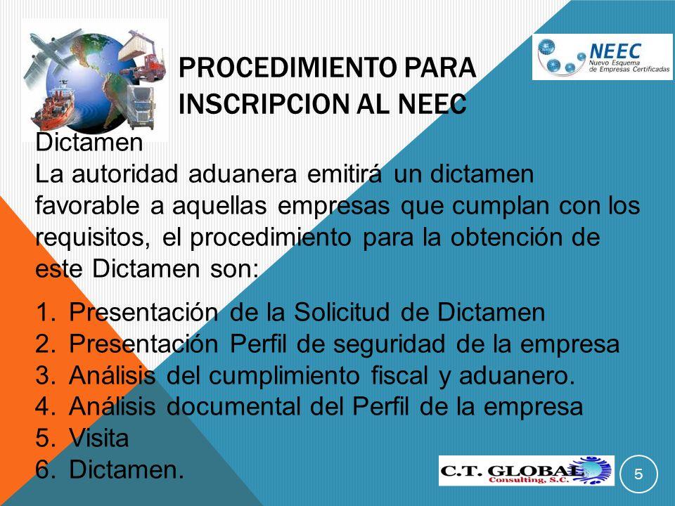 Procedimiento para inscripcion al NEEC