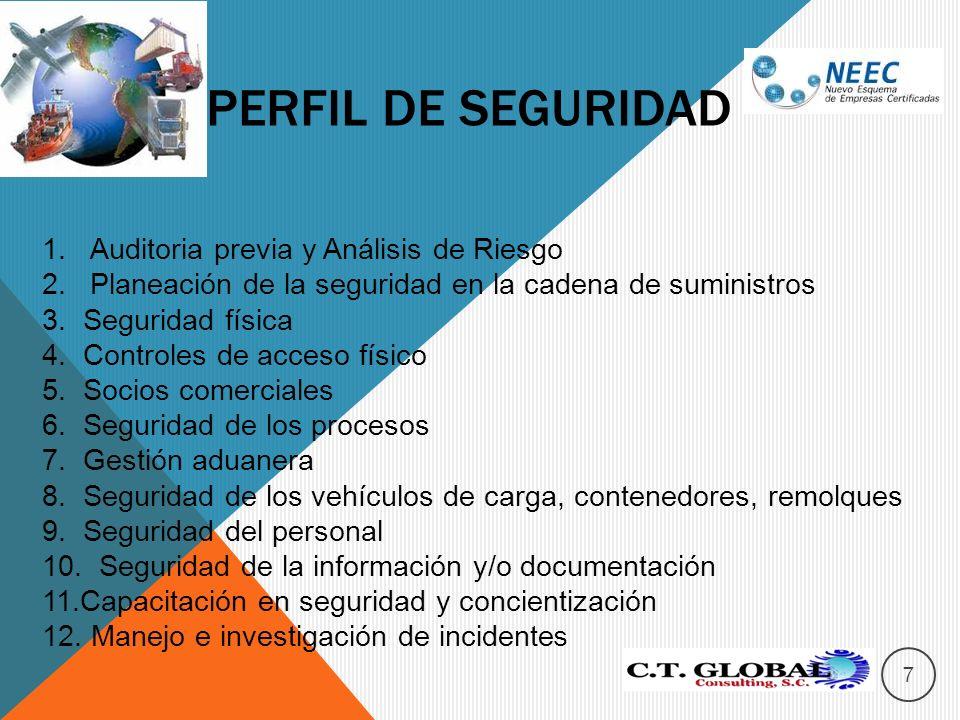 Perfil de seguridad Auditoria previa y Análisis de Riesgo