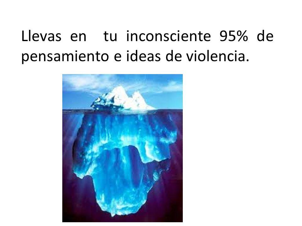 Llevas en tu inconsciente 95% de pensamiento e ideas de violencia.