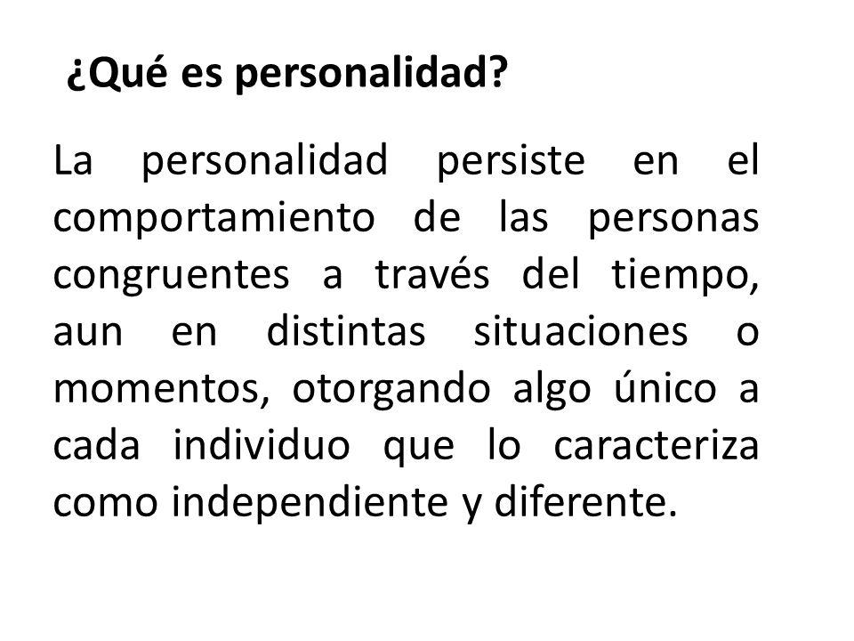 ¿Qué es personalidad