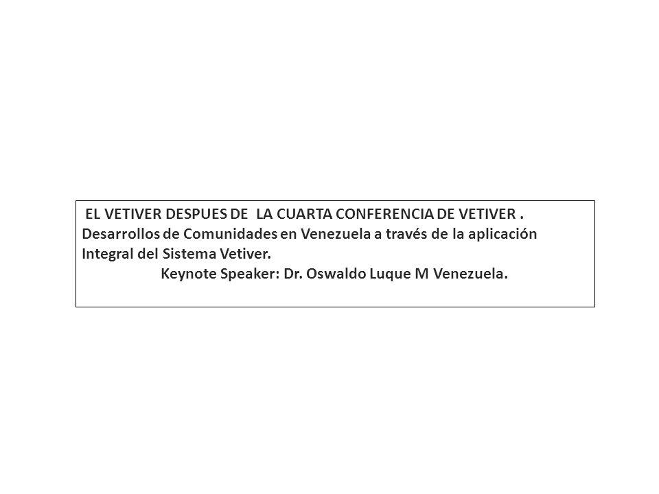 Keynote Speaker: Dr. Oswaldo Luque M Venezuela.