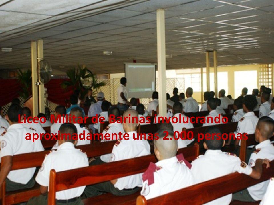 Liceo Militar de Barinas involucrando aproximadamente unas 2