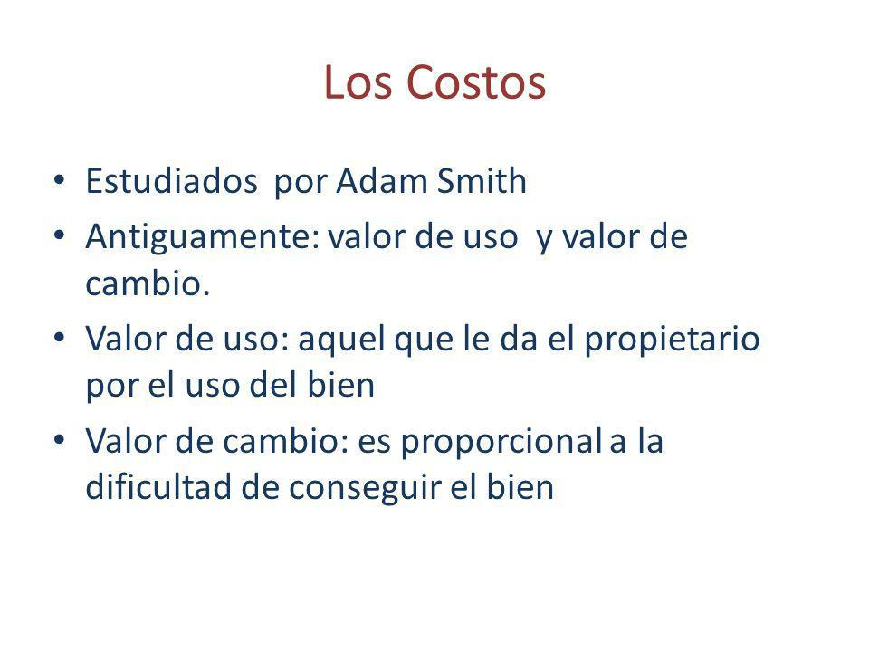 Los Costos Estudiados por Adam Smith