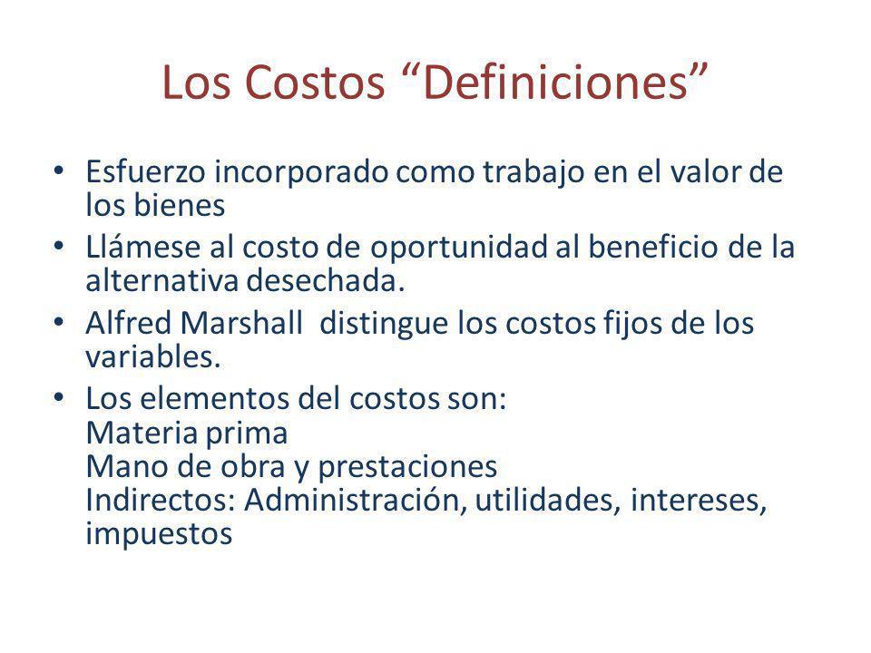 Los Costos Definiciones