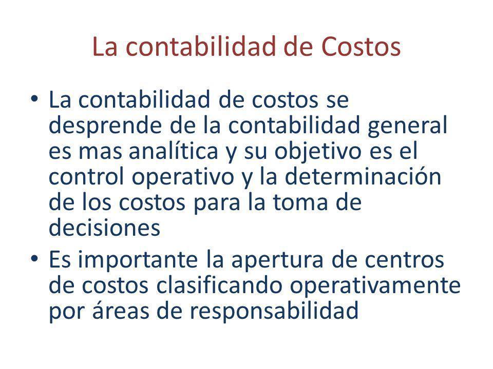 La contabilidad de Costos