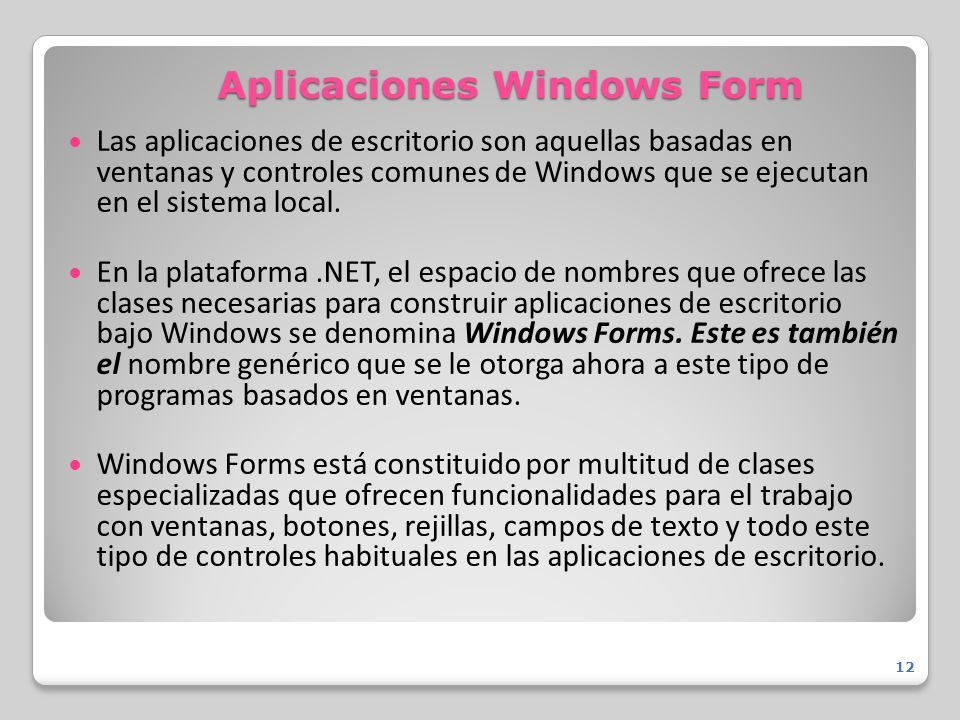 Aplicaciones Windows Form