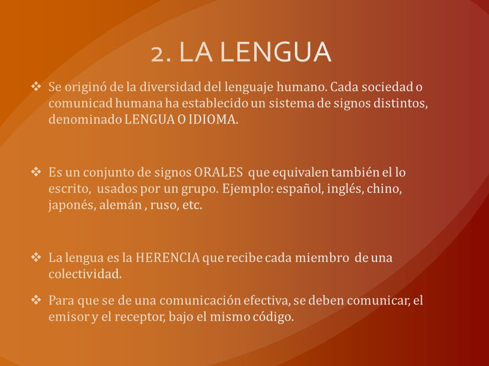 2. LA LENGUA