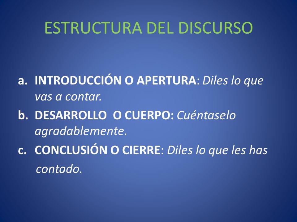 ESTRUCTURA DEL DISCURSO