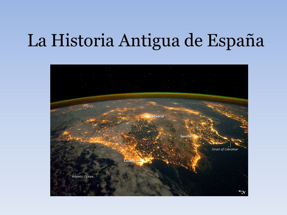 La Historia Antigua de España