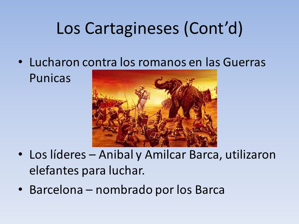 Los Cartagineses (Cont'd)