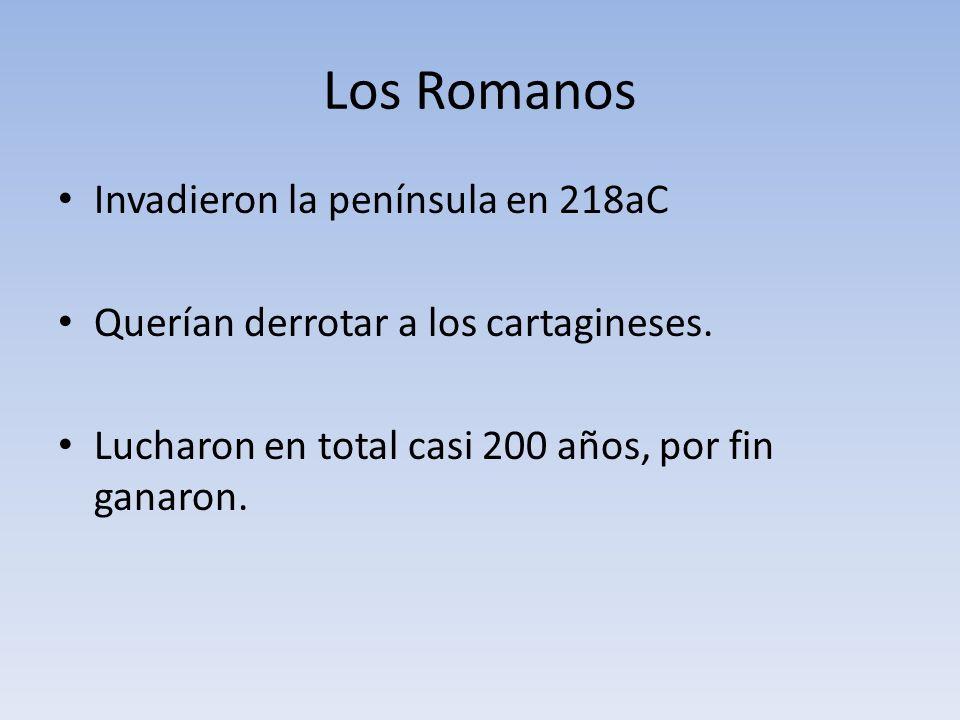 Los Romanos Invadieron la península en 218aC