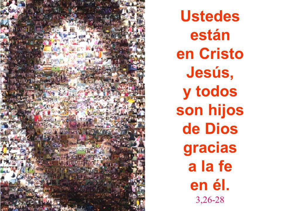 Ustedes están en Cristo Jesús, y todos son hijos de Dios gracias a la fe en él. 3,26-28