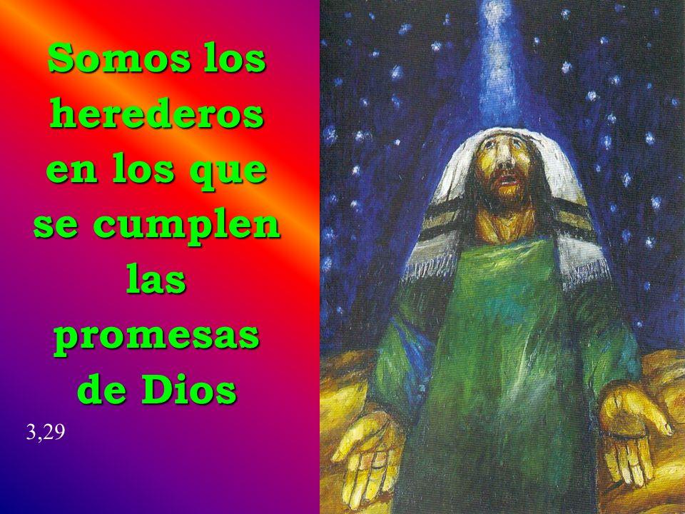 Somos los herederos en los que se cumplen las promesas de Dios