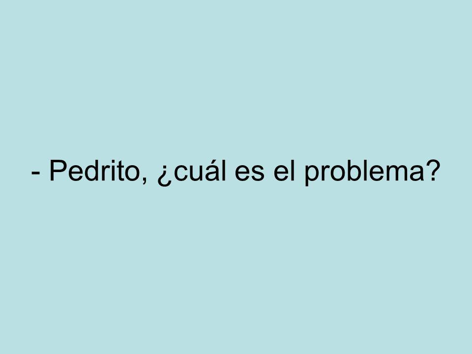 - Pedrito, ¿cuál es el problema