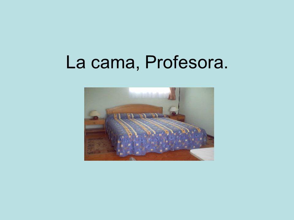 La cama, Profesora.