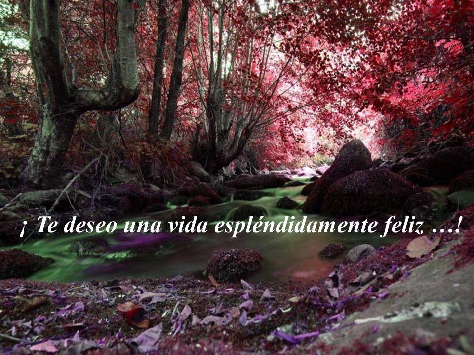 ¡ Te deseo una vida espléndidamente feliz …!