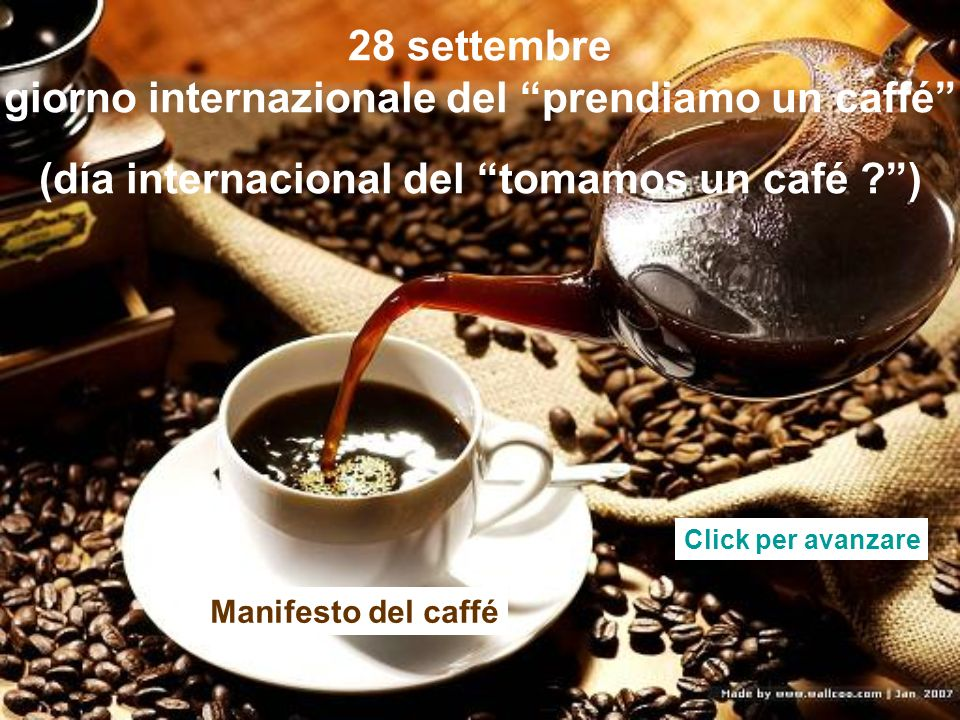 (día internacional del tomamos un café )