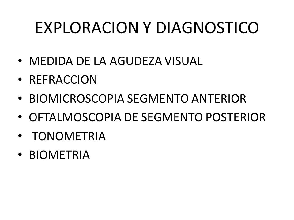 EXPLORACION Y DIAGNOSTICO