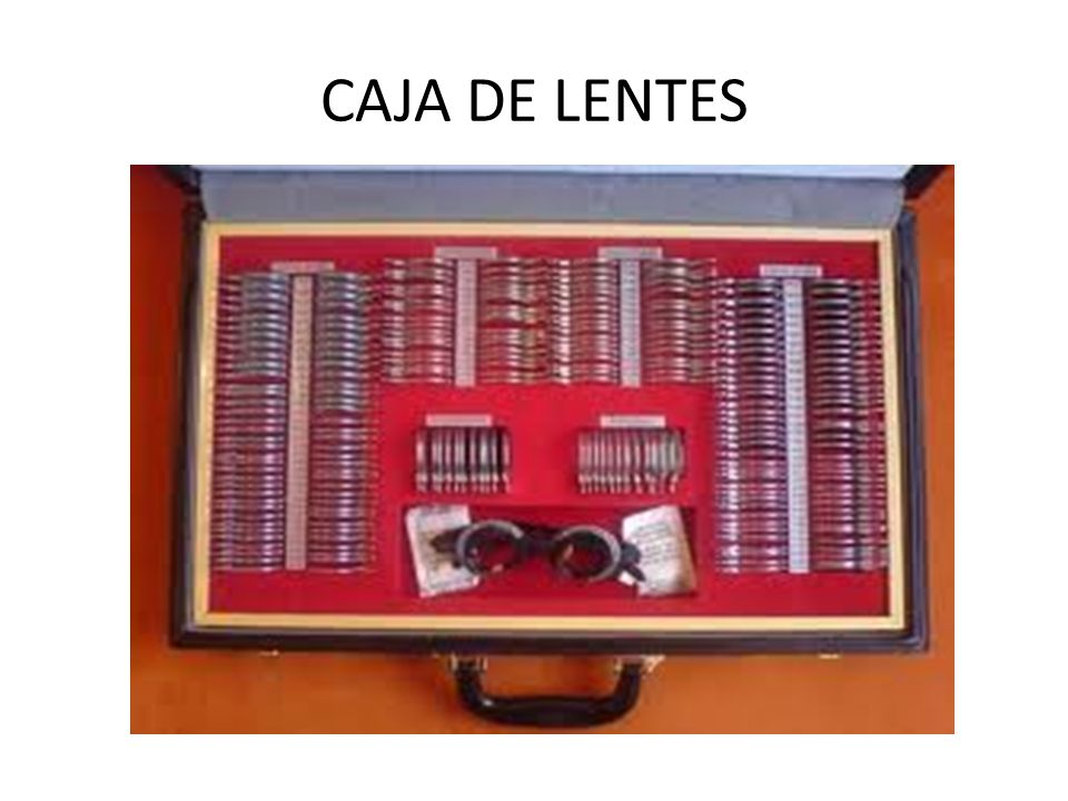 CAJA DE LENTES