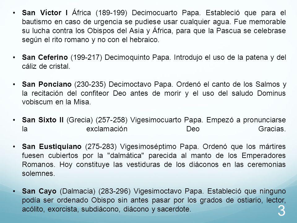 San Víctor I África (189-199) Decimocuarto Papa