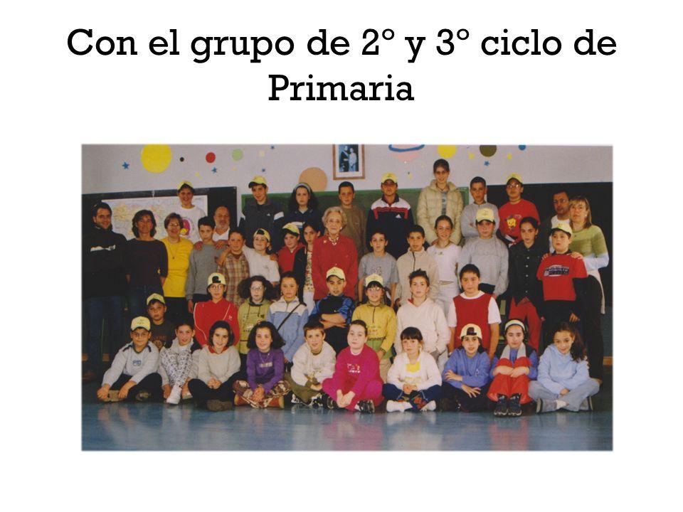 Con el grupo de 2º y 3º ciclo de Primaria