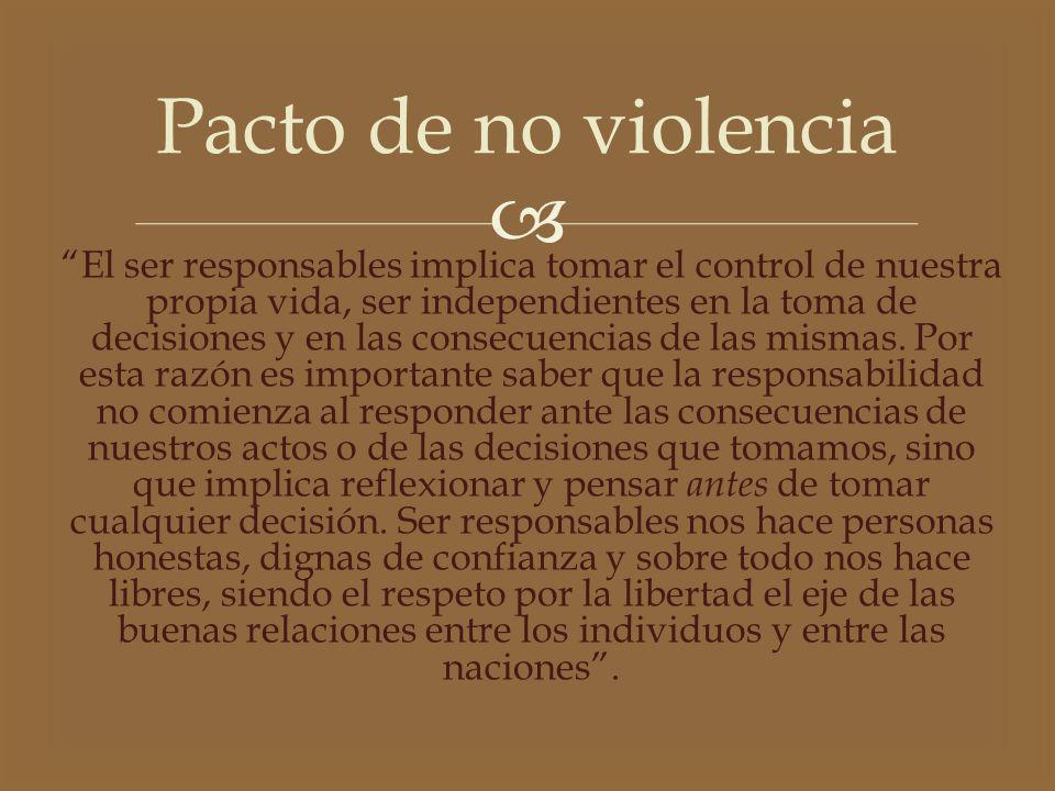 Pacto de no violencia