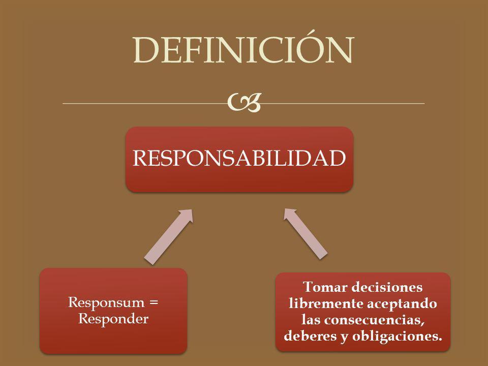 DEFINICIÓN RESPONSABILIDAD