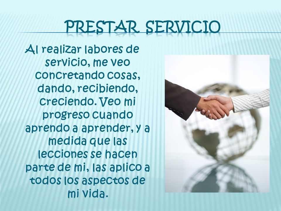 PRESTAR SERVICIO