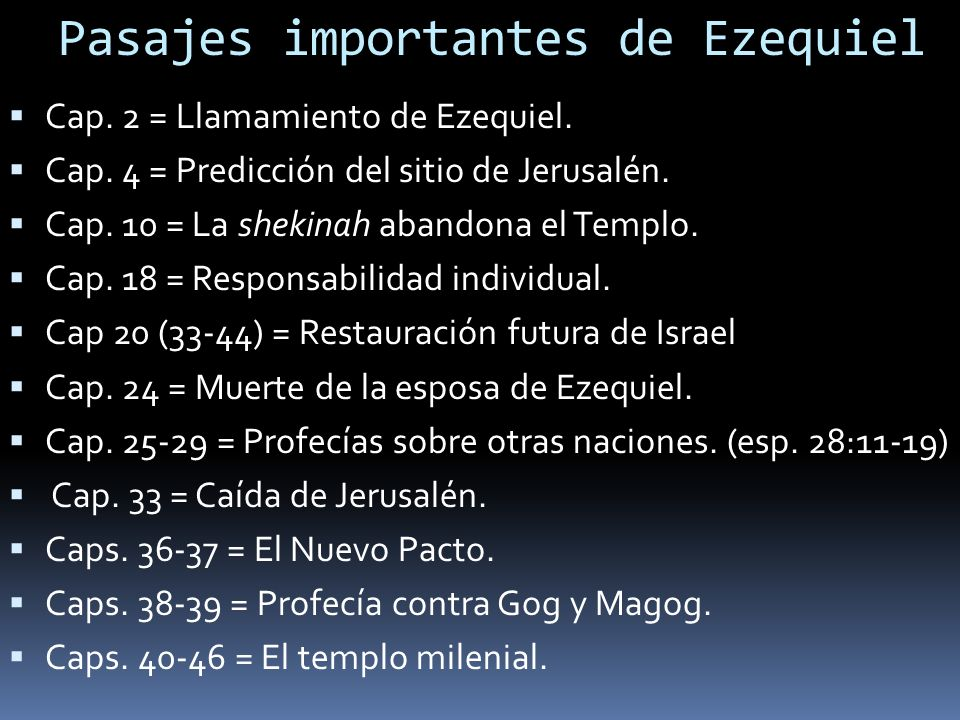Pasajes importantes de Ezequiel