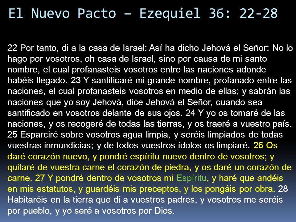 El Nuevo Pacto – Ezequiel 36: 22-28