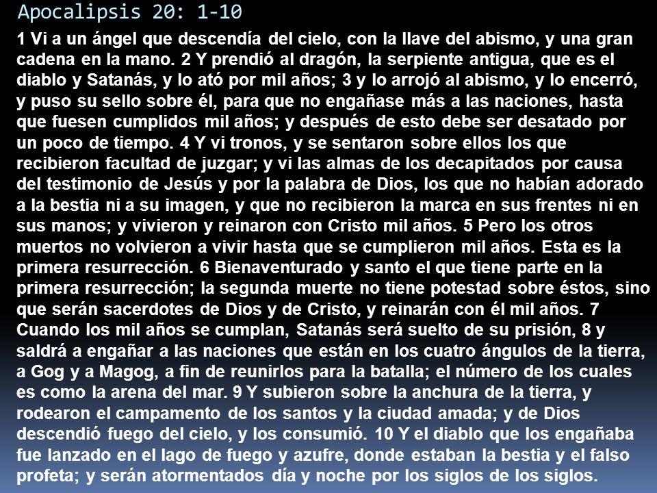 Apocalipsis 20: 1-10