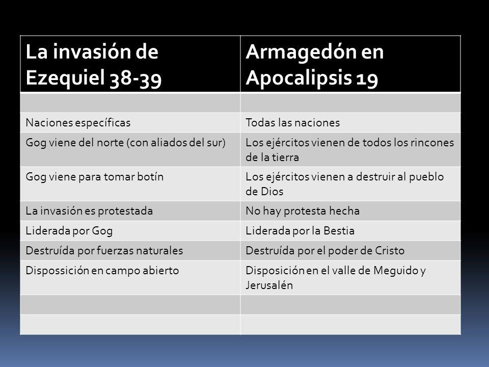 La invasión de Ezequiel 38-39 Armagedón en Apocalipsis 19