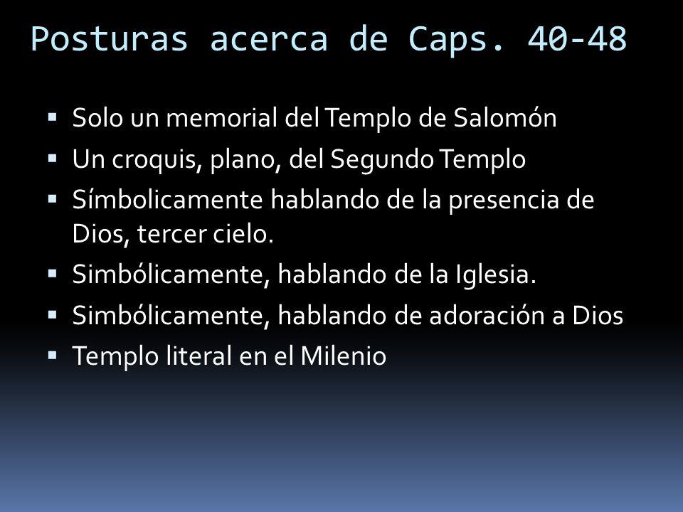 Posturas acerca de Caps. 40-48