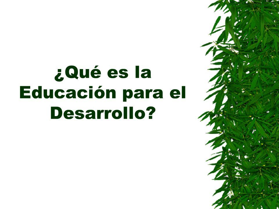 ¿Qué es la Educación para el Desarrollo