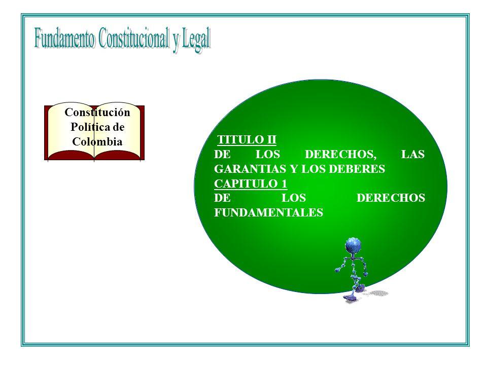 Fundamento Constitucional y Legal