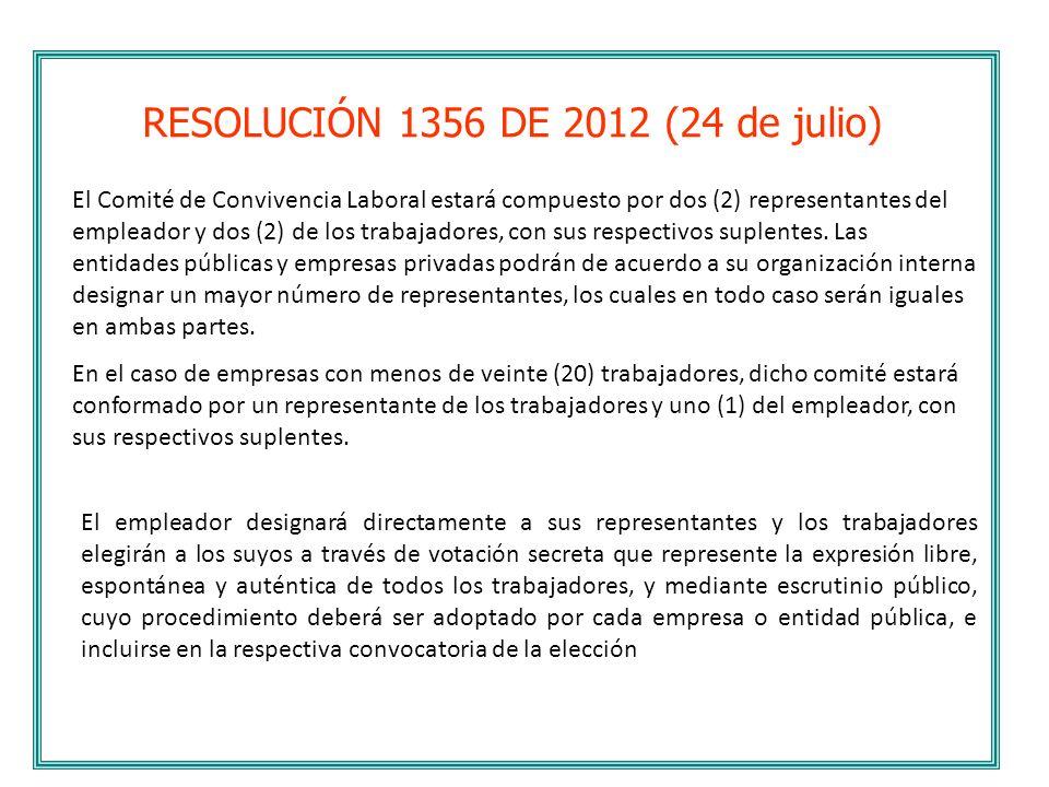 RESOLUCIÓN 1356 DE 2012 (24 de julio)