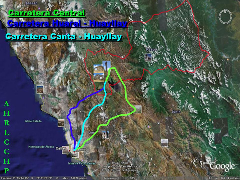 Carretera Central Carretera Huaral - Huayllay Carretera Canta - Huayllay A H R L C C H P