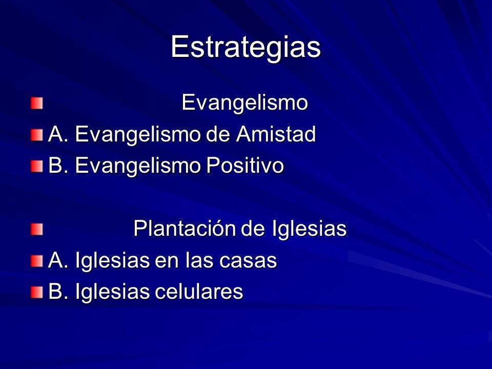 Estrategias Evangelismo A. Evangelismo de Amistad