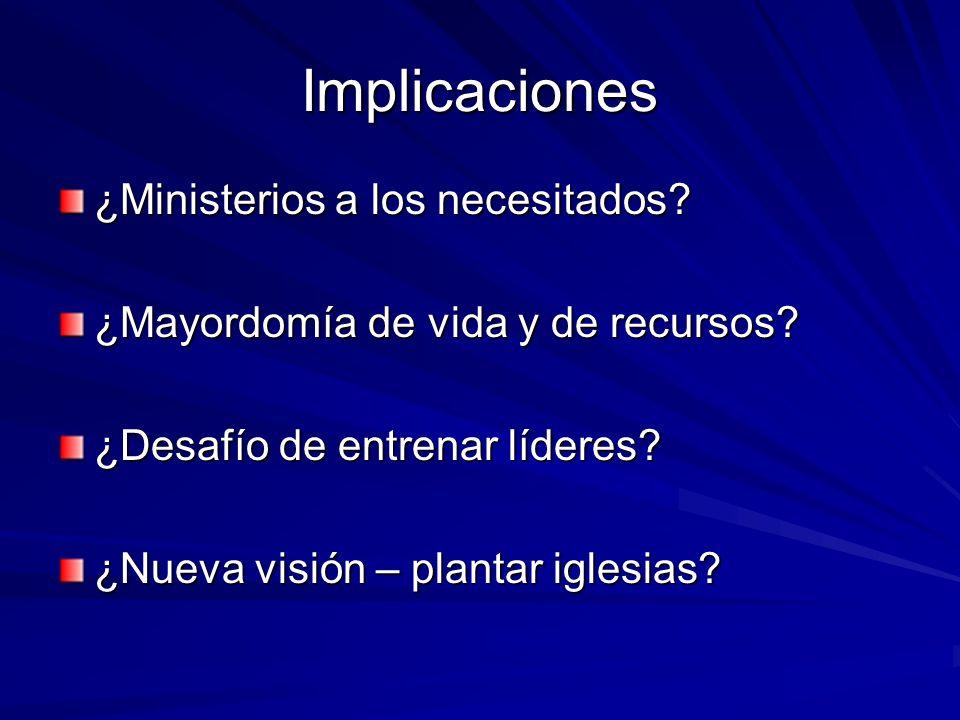 Implicaciones ¿Ministerios a los necesitados