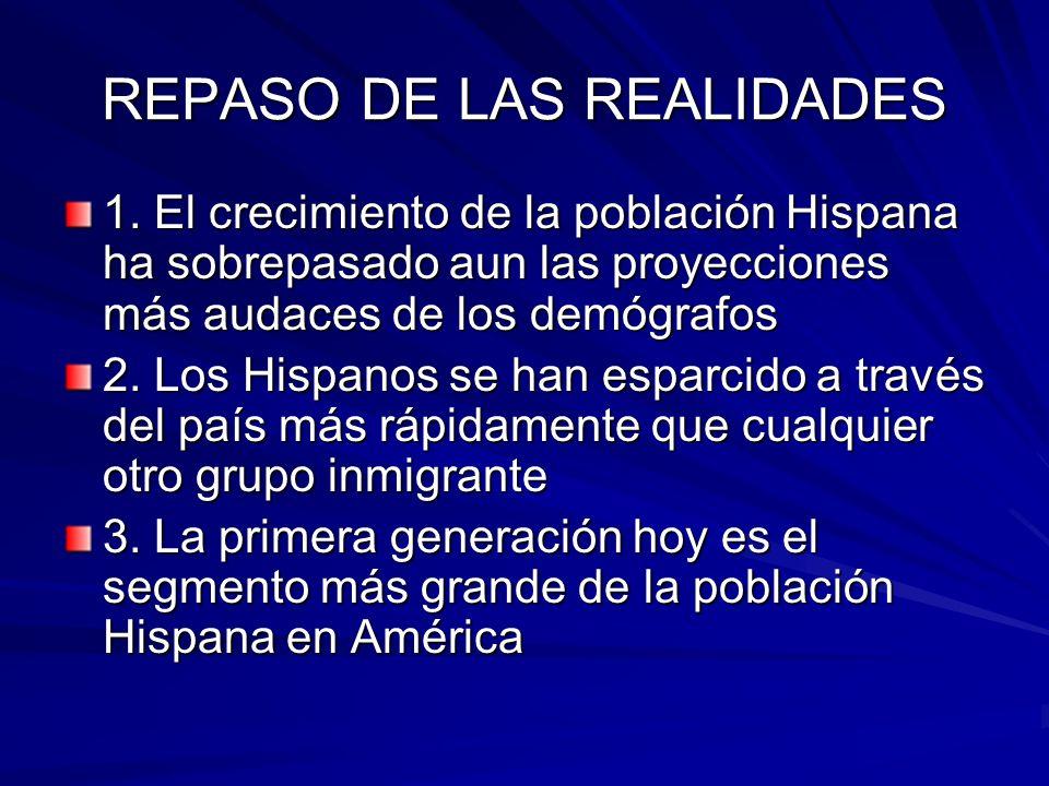 REPASO DE LAS REALIDADES