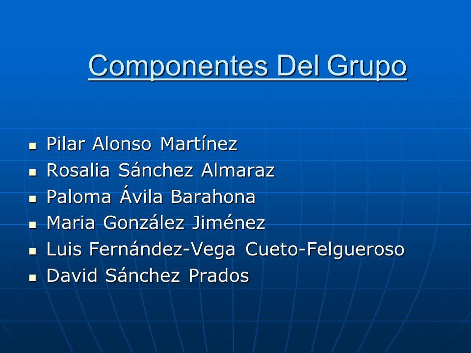 Componentes Del Grupo Pilar Alonso Martínez Rosalia Sánchez Almaraz