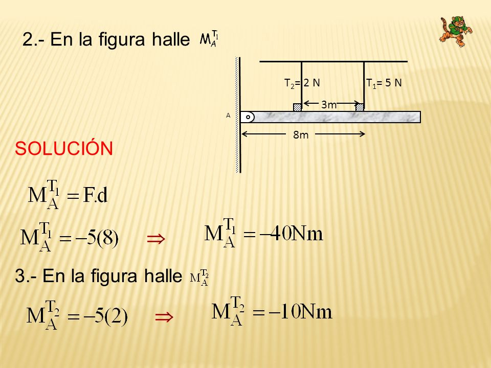 2.- En la figura halle SOLUCIÓN  3.- En la figura halle  T1= 5 N