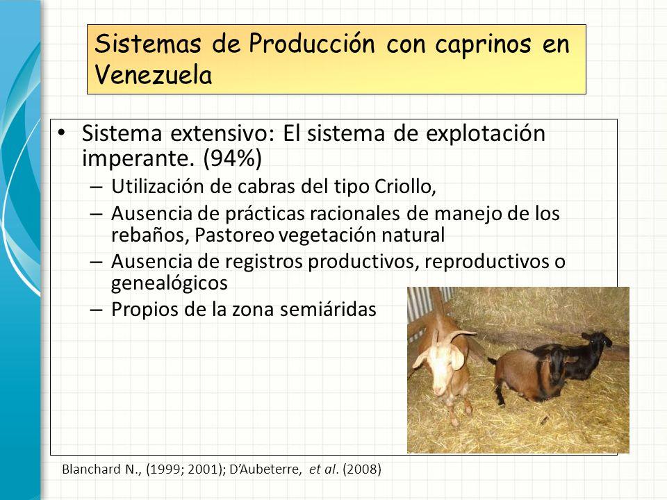 Sistemas de Producción con caprinos en Venezuela