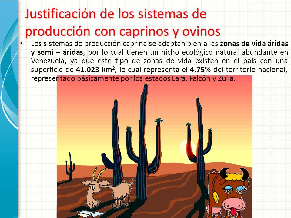 Justificación de los sistemas de producción con caprinos y ovinos
